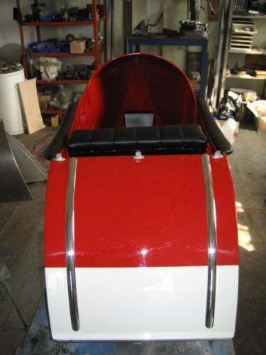 Boot open cover for LS 29 gondola with strips back view