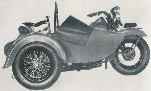 1949 export model with sidecar
